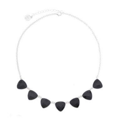 jcpenney.com | Liz Claiborne® Black Acrylic Frontal Collar Necklace