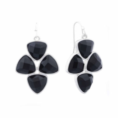 jcpenney.com | Liz Claiborne® Black Acrylic Drop Earrings