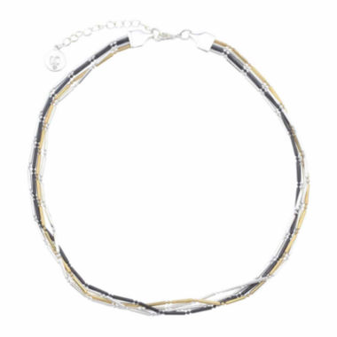 jcpenney.com | Liz Claiborne® Hematite 4-Row Bar Chain Necklace