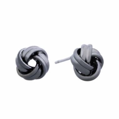 jcpenney.com | Liz Claiborne® Hypoallergenic Hematite Knot Button Earrings