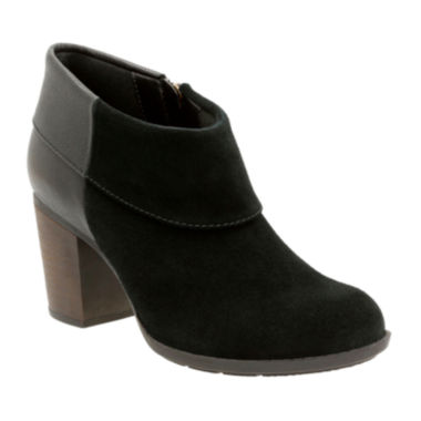 jcpenney.com | Clarks® Enfield Canal Heeled Ankle Booties