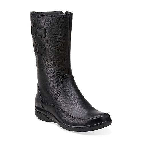 Clarks® Kearns Flash Leather Mid-Shaft Boots