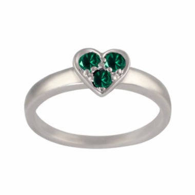 jcpenney.com |  Lab-Created Emerald Sterling Silver Heart Ring
