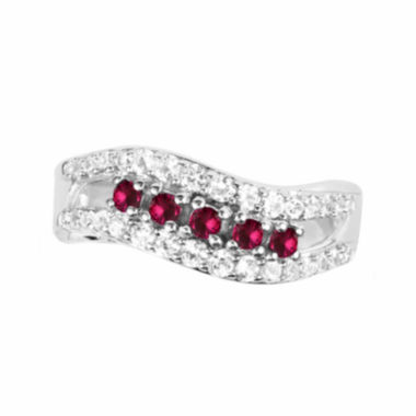 jcpenney.com |  Lab-Created Ruby And Lab-Created White Sapphire Sterling Silver Ring