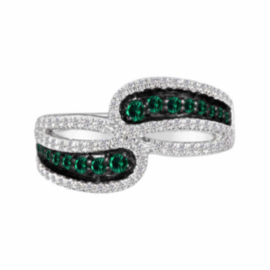 jcpenney.com |  Lab-Created Emerald And Lab-Created White Sapphire Sterling Silver Ring Lab-Created Emerald And Lab-Created White Sapphire Sterling Silver Ring