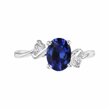 jcpenney.com |  Lab-Created Blue Sapphire Gemstone Sterling Silver Ring
