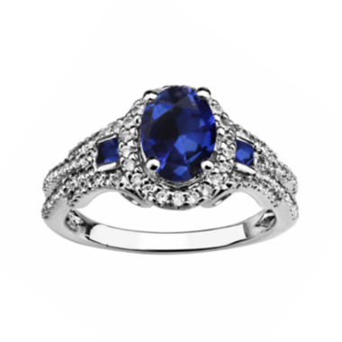 jcpenney.com |  Created Blue Sapphire And Created White Sapphire Sterling Silver Ring