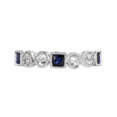 jcpenney.com |  Lab-Created Blue Sapphire And Lab-Created White Sapphire Sterling Silver Ring