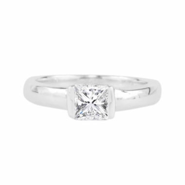jcpenney.com |  Square Lab-Created White Sapphire Sterling Silver Ring