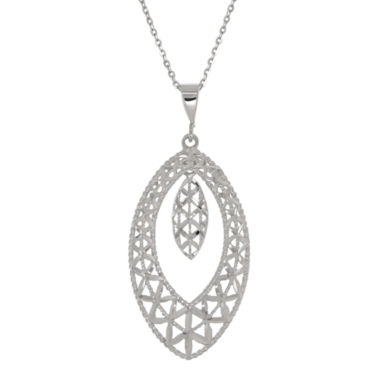 jcpenney.com | 10K White Gold Double Marquis Pendant Necklace