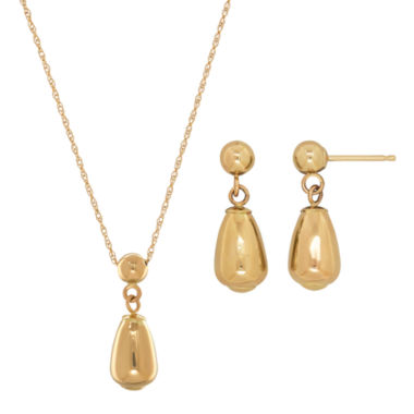 jcpenney.com | Infinite Gold Womens 2-pc. 14K Gold Jewelry Set