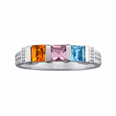 jcpenney.com | Personalized Three-Stone Birthstone Ring