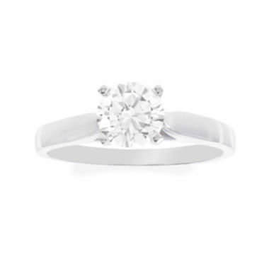 jcpenney.com | Diamonart® 10K White Gold 1.70 C.T. T.W. Round Cubic Zirconia Solitaire Ring