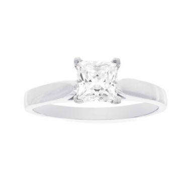 jcpenney.com | Diamonart® 10K White Gold 1.70 C.T. T.W. Princess Cubic Zirconia Solitaire Ring