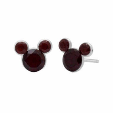 jcpenney.com |  Personalized Disney Mickey Sterling Silver Crystal Birthstone Stud Earrings