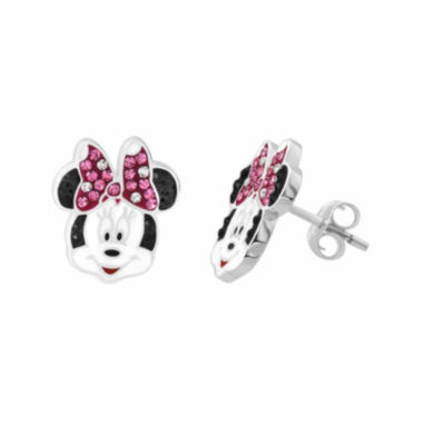 jcpenney.com | Disney Minnie Sterling Silver Crystal Stud Earrings
