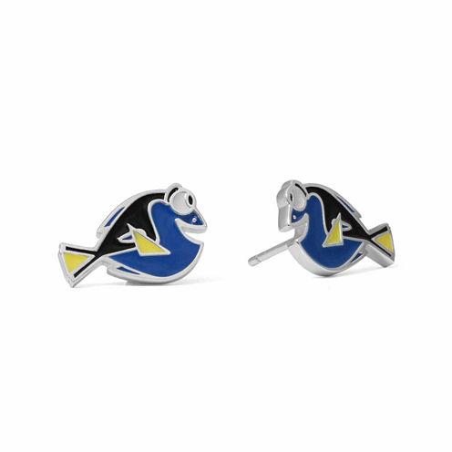 Disney Dory Sterling Silver Enamel Stud Earrings