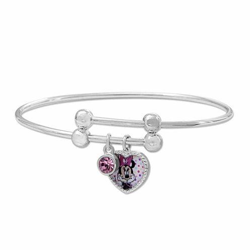 Disney Minnie Mouse Brass Heart Adjustable BangleBracelet