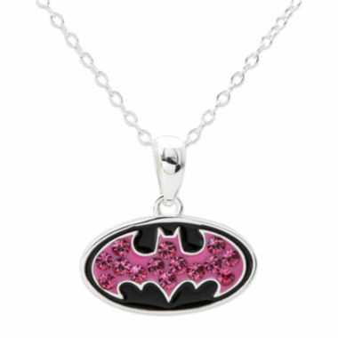 jcpenney.com | DC Comics® Batman Sterling Silver Pink Crystal Pendant Necklace