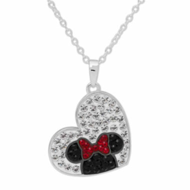 jcpenney.com | Disney Minnie Mouse Brass Crystal Heart Pendant Necklace