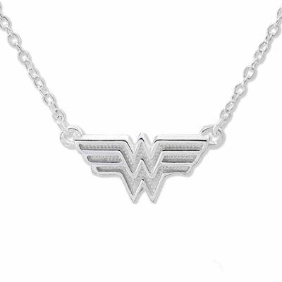 Dc comics wonder woman sterling silver pendant necklace jcpenney dc comics wonder woman sterling silver pendant necklace aloadofball Gallery