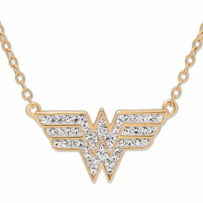 c1ad50122 DC Comics Wonder Woman 14K Gold Over Silver Crystal Necklace JCPenney