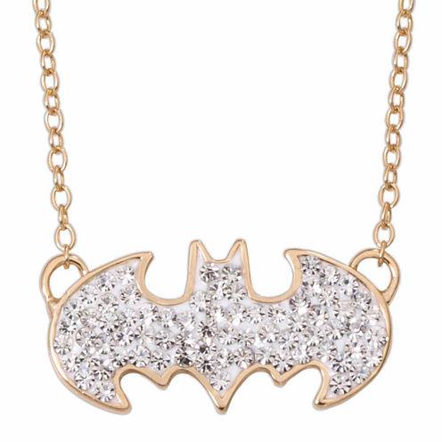 DC Comics® Batman 14K Gold Over Silver Crystal Necklace