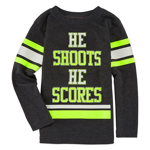Okie Dokie® Long-Sleeve Football Tee - Toddler Boys 2t-5t