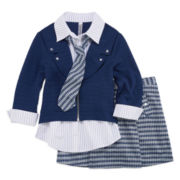Beautees 2-pc. Cardigan and Skirt Set - Girls 7-16