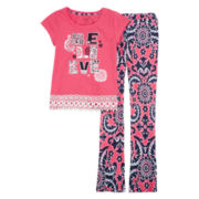 One Step Up® Short-Sleeve Graphic Tee and Leggings Set - Girls 7-12