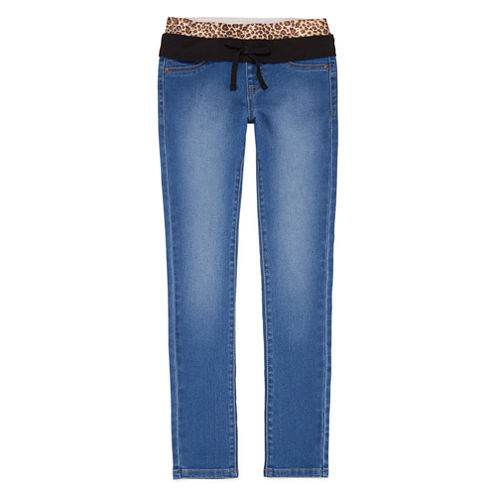 Squeeze Knit-Waistband Skinny Jeans - Girls 7-14