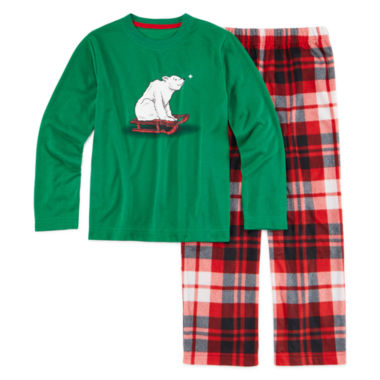 jcpenney.com | North Pole Trading Co. 2-pc. Polar Bear Sleep Set - Boys 4-16