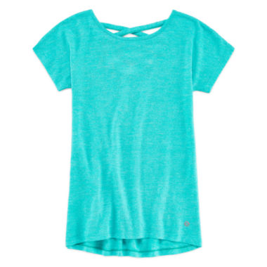 jcpenney.com | Xersion™ Short-Sleeve Cross-Back Top - Girls 7-16 and Plus