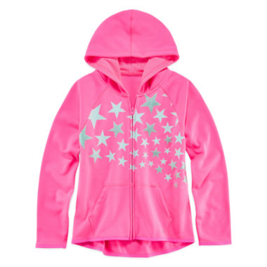 jcpenney.com | Xersion™ Graphic Zip-Front Fleece Hoodie - Girls 7-16 and Plus
