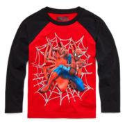 Marvel® Spider-Man™ Long-Sleeve Raglan Tee - Preschool Boys 4-7