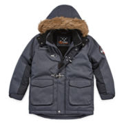Big Chill Long-Sleeve Fur-Trim Hooded Jacket - Boys 8-18