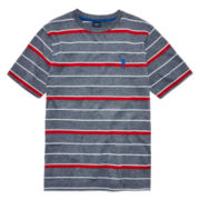 U.S. Polo Assn.® Short-Sleeve Striped Mélange Tee - Boys 8-20