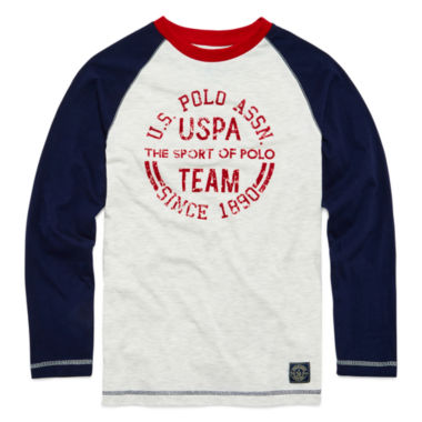 jcpenney.com | U.S. Polo Assn.® Long-Sleeve Graphic Raglan Tee - Boys 8-20