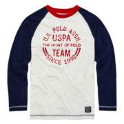U.S. Polo Assn.® Long-Sleeve Graphic Raglan Tee - Boys 8-20