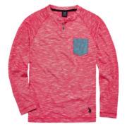 U.S. Polo Assn.® Long-Sleeve Henley Tee – Boys 8-20