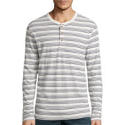 St. John's Bay® Long-Sleeve Slub Henley Shirt