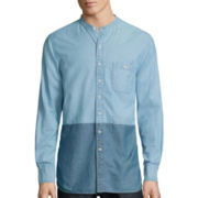 Arizona Long-Length Colorblock Chambray Woven Shirt