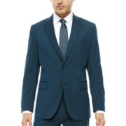 JF J. Ferrar® Long-Sleeve Teal Stretch Jacket - Classic Fit
