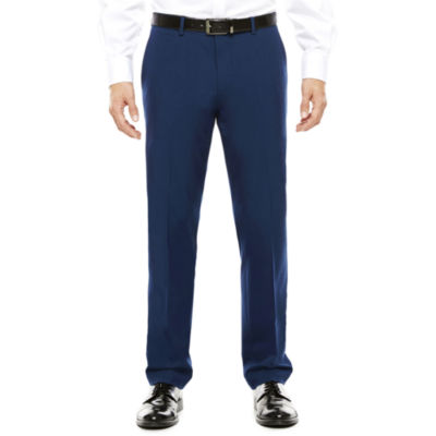 Men's JF J. Ferrar® Blue Stretch Flat-Front Super Slim-Fit Suit Pants