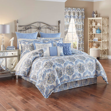 jcpenney.com | Waverly 4-pc. Damask + Scroll Reversible Comforter Set