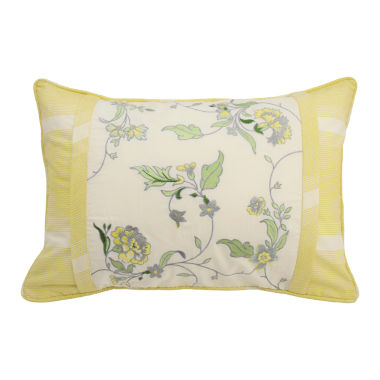 jcpenney.com | Waverly Paisley Verveine Embroidered Oblong Decorative Pillow