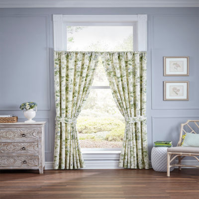 Waverly Fleuretta Rod-Pocket Curtain Panel