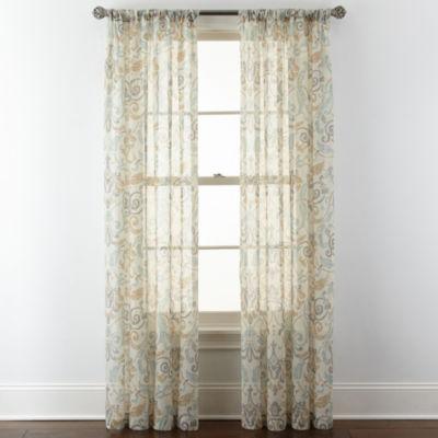 Royal Velvet Villa Rod Pocket Curtain Panel Jcpenney