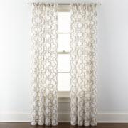 Royal Velvet® Lillian Embroidered Sheer Rod-Pocket Curtain Panel