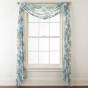 Liz Claiborne® Listette Floral Scarf Sheer Valance